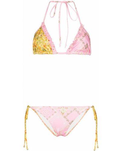 Розовые пляжные бикини с завязками Loveshackfancy
