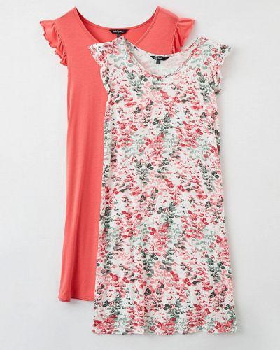 Разноцветное платье - белое Ulla Popken