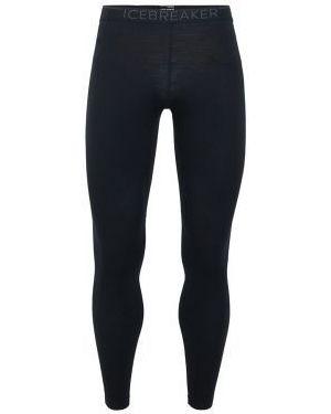 Czarne legginsy wełniane Icebreaker
