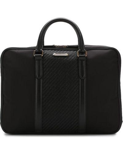 Кожаная сумка для ноутбука текстильная Ermenegildo Zegna