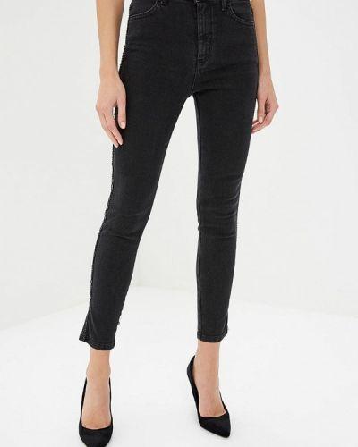 Черные джинсы-скинни с пайетками Hellen Barrett