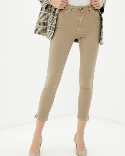 Бежевые джинсы-скинни узкого кроя Pinkkarrot