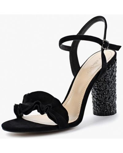 Черные босоножки на каблуке Calipso