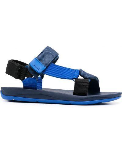 Открытые сандалии на липучках на плоской подошве Camper