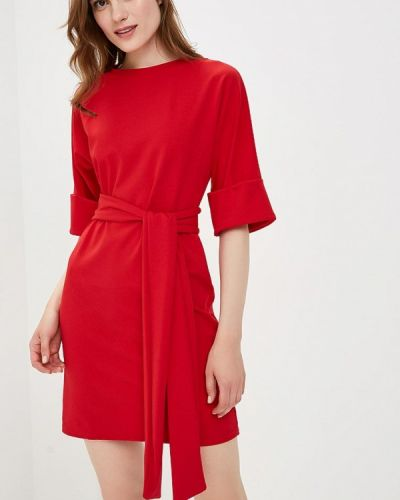 Красное платье с длинными рукавами Lost Ink.