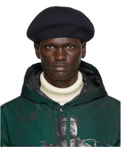 Bawełna bawełna czarny beret z haftem Undercover