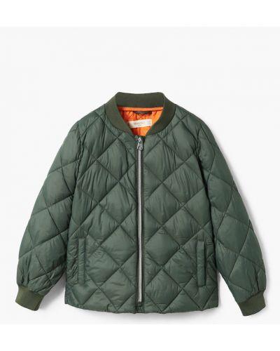 Куртка с поясом теплая Mango Kids