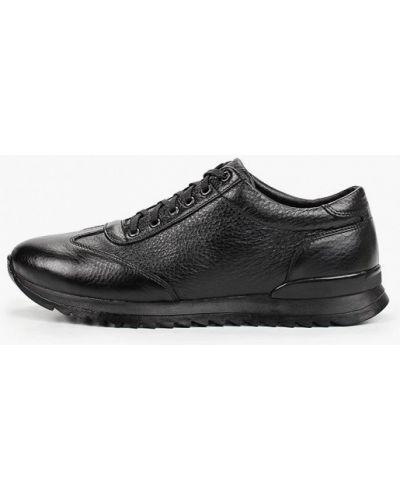 Кожаные черные кроссовки Valser