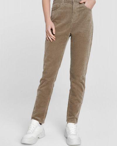Бежевые брюки с карманами вельветовые Ostin
