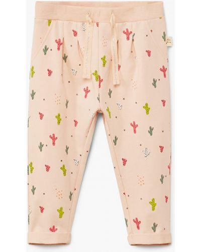 Розовые брюки Mango Kids