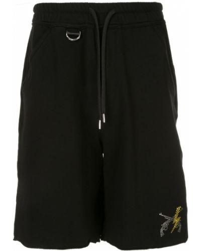Черные шорты карго с карманами Roarguns
