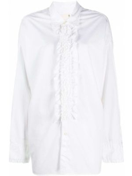 Рубашка с длинным рукавом белая оверсайз R13