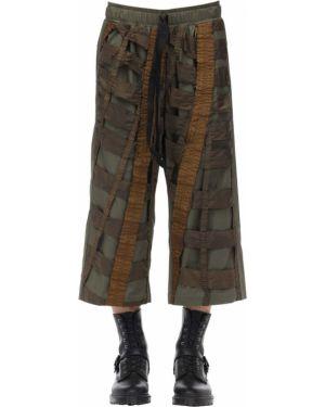 Zielone spodnie bawełniane Christopher Raeburn