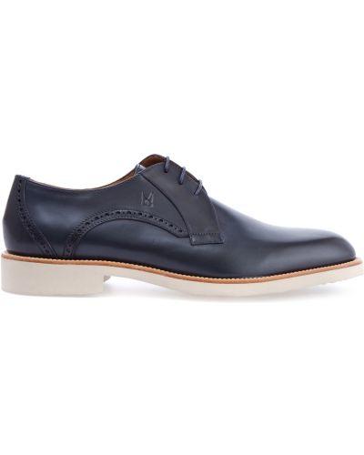 Классические туфли итальянские с узором Moreschi