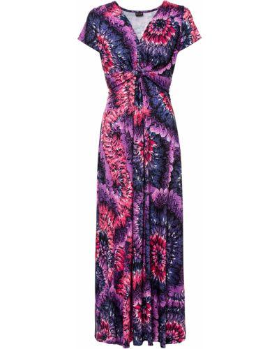 Фиолетовое платье макси Bonprix