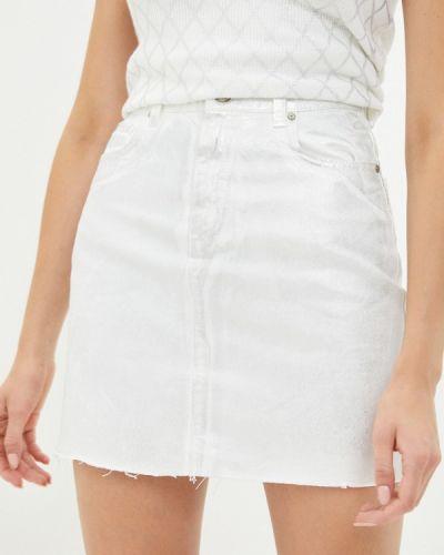 Белая джинсовая юбка Trendyol