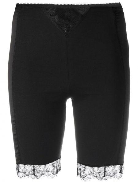 Хлопковые кружевные черные шорты Seen Users
