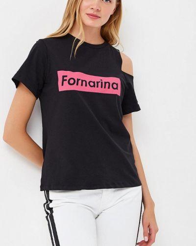 Футбольная черная футболка Fornarina