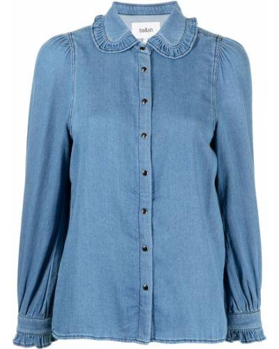 Синяя рубашка с воротником Ba&sh