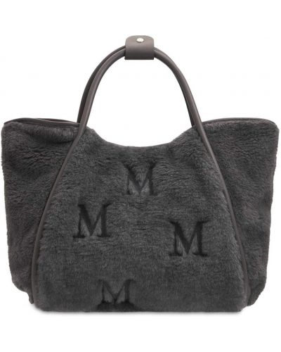 Серая шерстяная сумка Max Mara