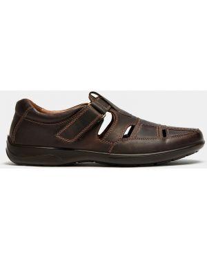 Коричневые кожаные городские сандалии Ralf Ringer