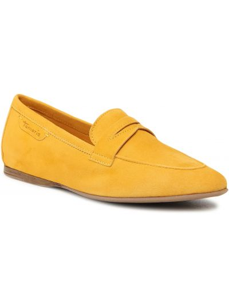 Lordsy zamszowe - żółte Tamaris