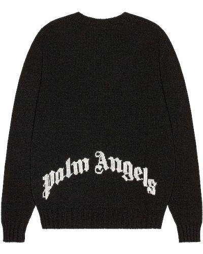 Akryl biały sweter z haftem Palm Angels