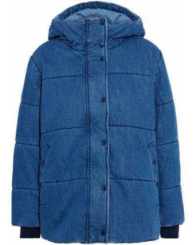 Ватная синяя джинсовая куртка с капюшоном Rag & Bone