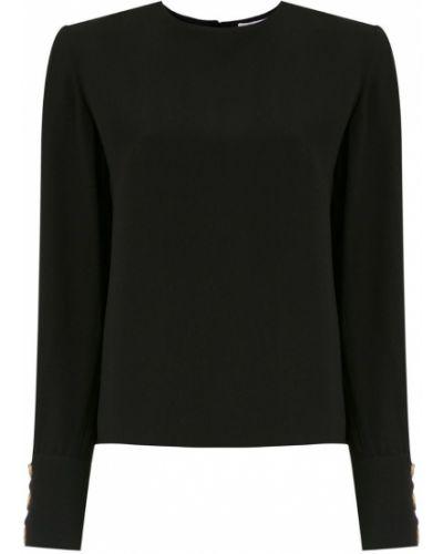Блузка с длинным рукавом прямая черная НК