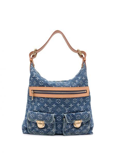Синяя сумка на плечо Louis Vuitton