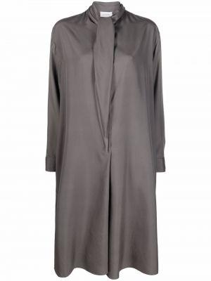 Платье макси с длинными рукавами - серое Lemaire