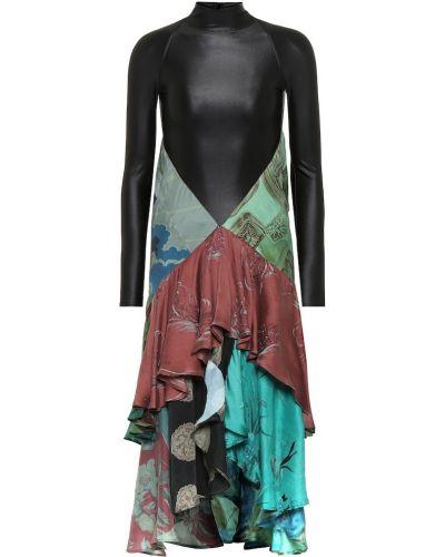 Платье миди шелковое зимнее Marine Serre