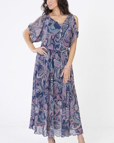 Приталенное шифоновое платье-футляр с декольте на торжество прима линия