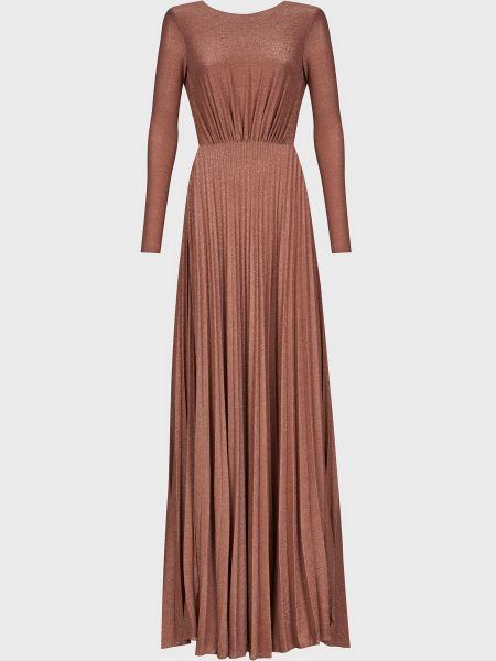 Розовое платье из вискозы Elisabetta Franchi