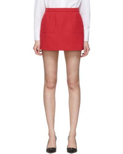 Spódnica mini z kieszeniami z łatami Red Valentino