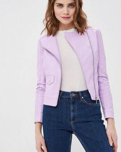 Кожаная куртка весенняя фиолетовый Z-design