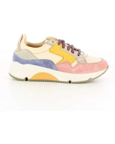 Różowe sneakersy Ocra
