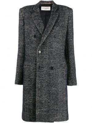 Пальто шерстяное пальто Saint Laurent
