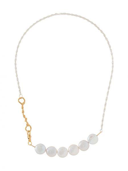 Srebro naszyjnik z perłami pozłacany z perłami Alighieri