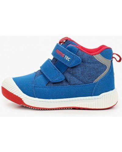 Синие кожаные сапоги Reima