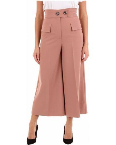 Różowe klasyczne spodnie Maesta