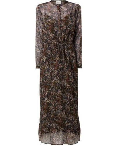 Czarna sukienka długa z falbanami Neo Noir