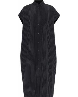 Платье миди платье-рубашка в полоску Balenciaga