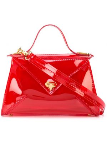 Красная сумка-тоут круглая Tyler Ellis