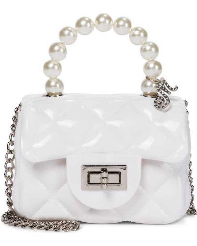 Biała torebka mini pikowana perły Monnalisa