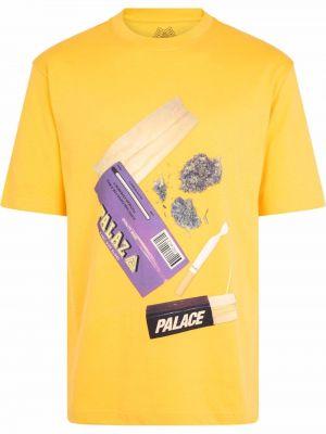 Лонгслив с принтом - желтая Palace