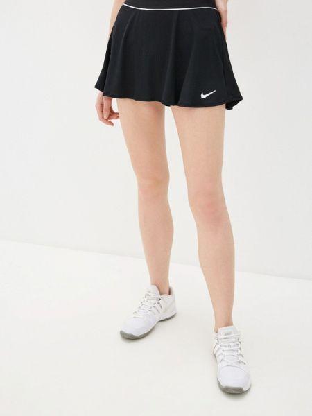 Юбка юбка-шорты черная Nike