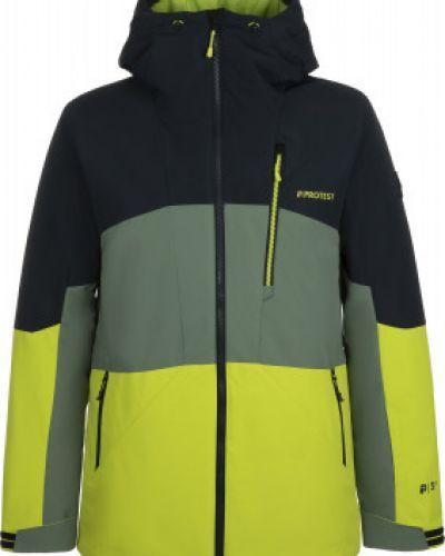Зеленая утепленная куртка на молнии Protest
