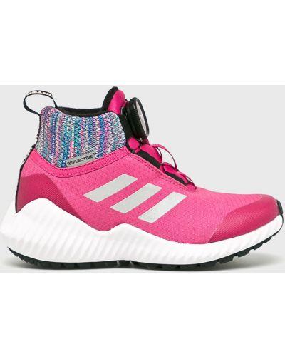 Кроссовки замшевые розовый Adidas Performance