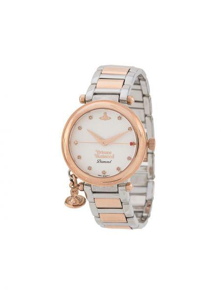 Zegarek kwarcowy szary okrągły Vivienne Westwood